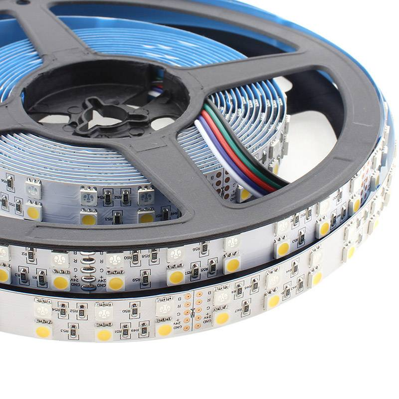Tira LED EPISTAR SMD5050, RGB+NW, DC24V, 5m (120Led/m) - IP20, RGB + Blanco neutro